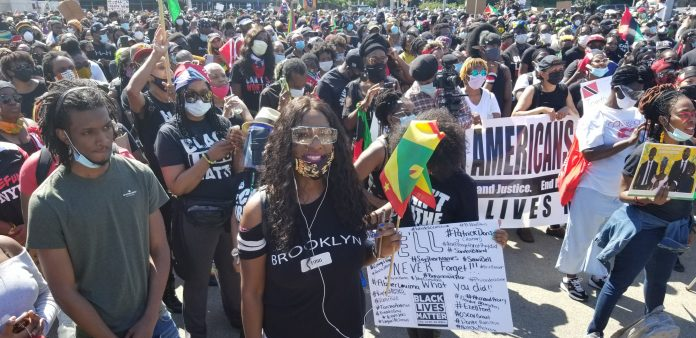Caribbean-Americans March & Rally for Justice Saying Together We Are Stronger